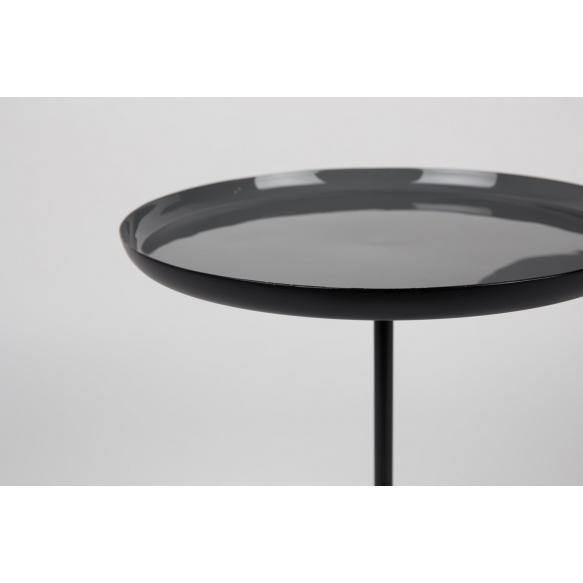 Side Table Trip Set Of 2 Enamel. Height 40/50.5 cm