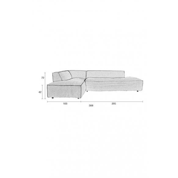 Sofa Fat Freddy Left Comfort Grey/Blue81
