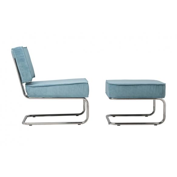 Lounge Chair Ridge Rib Blue