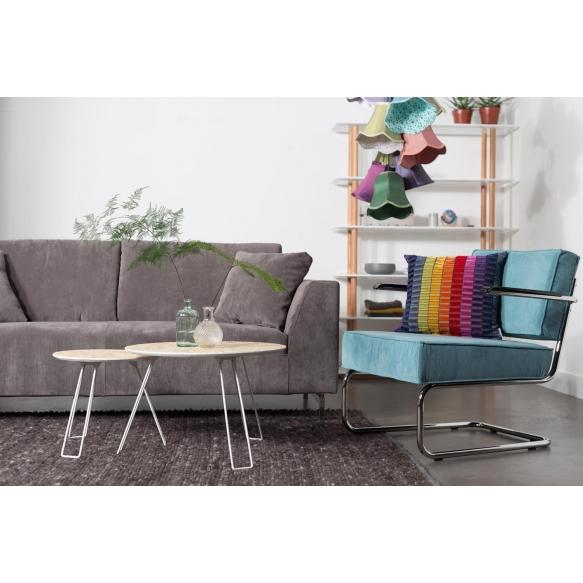Lounge Chair Ridge Rib Arm Blue