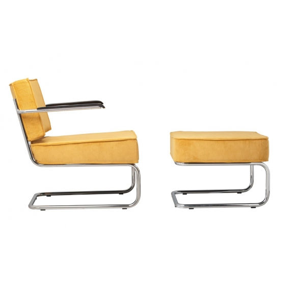 Lounge Chair Ridge Rib Arm Yellow
