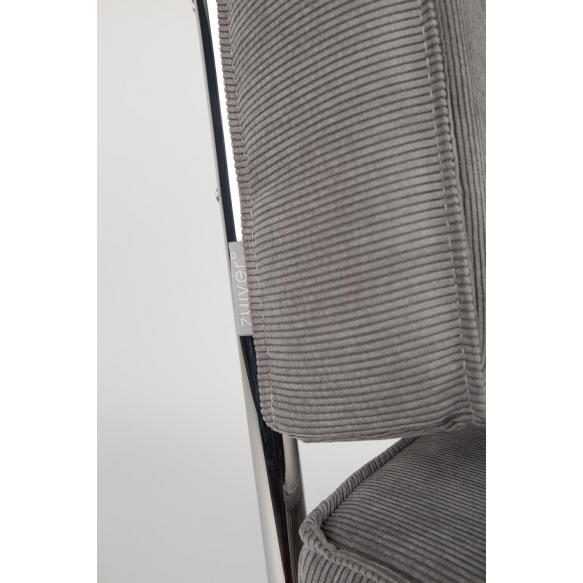Lounge Chair Ridge Rib Arm Cool Grey