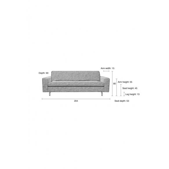 Sofa Jean 2,5-Seater Latte