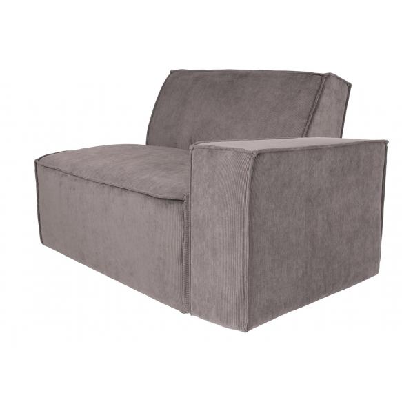 Element Sofa James Arm Right Rib Grey