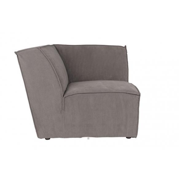 Element Sofa James Corner Rib Grey