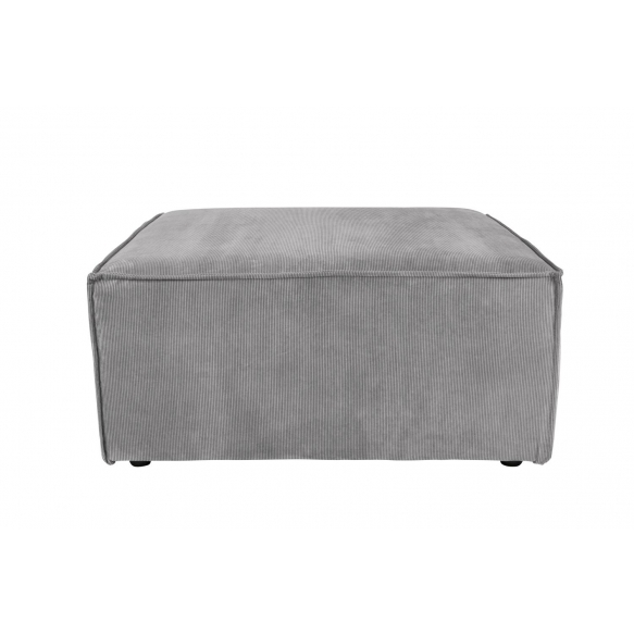Element Sofa James Hocker Rib Cool Grey