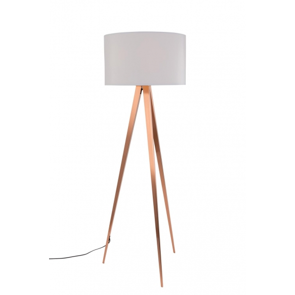 Floor Lamp Tripod Copper White