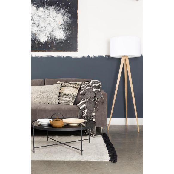 Floor Lamp Tripod Wood White