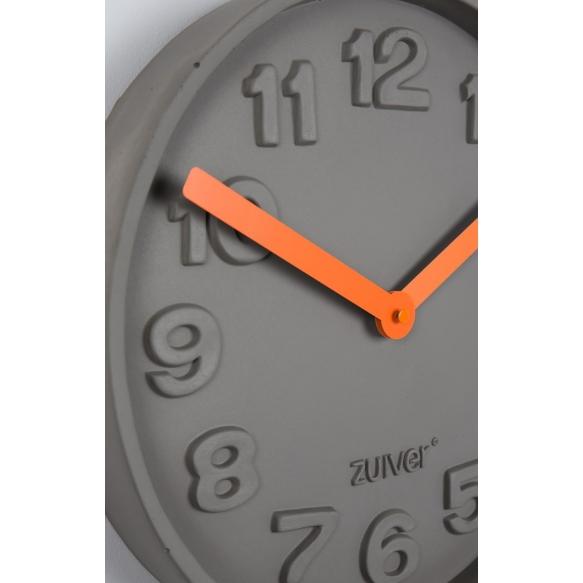 Clock Concrete Time Orange