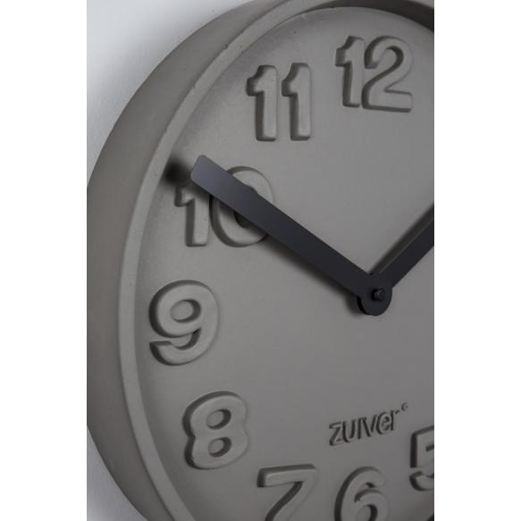 Clock Concrete Time Black