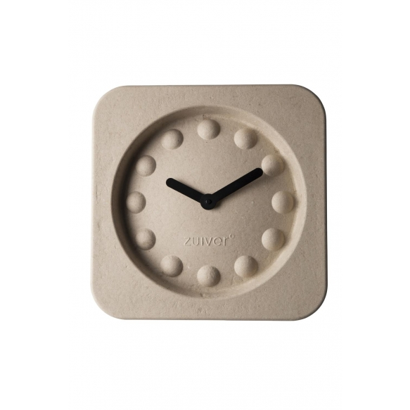 Clock Pulp Time Square Beige