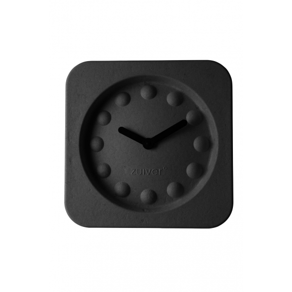 Clock Pulp Time Square Black