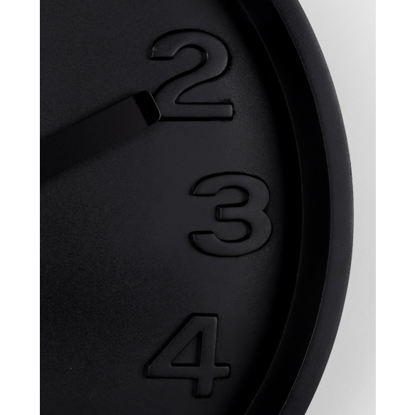 Clock Concrete Time All Black