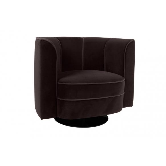 Lounge Chair Flower, black