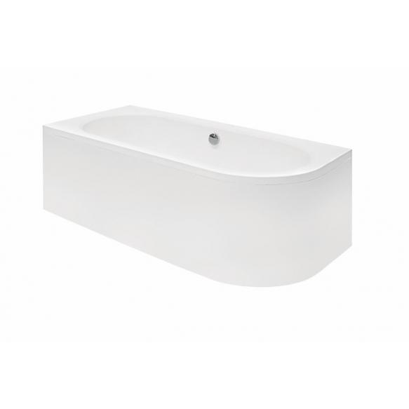 acrylic bath Avito, 170x75 cm, right +feet+panel