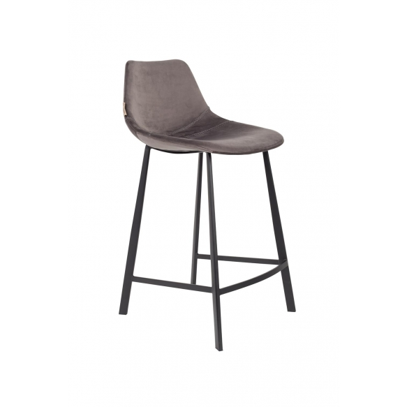 Counter Stool Franky Velvet Grey
