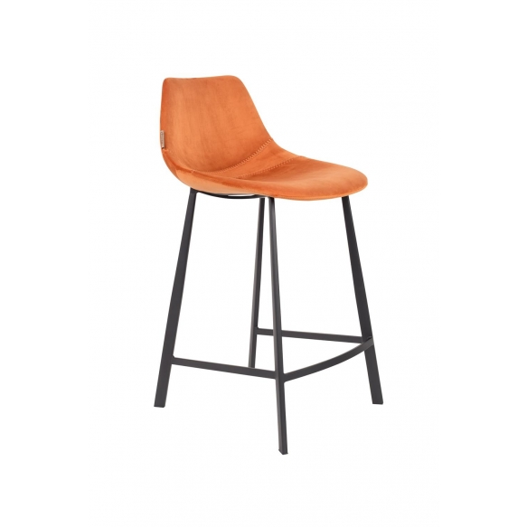 madal baaritool Franky Velvet, oranž