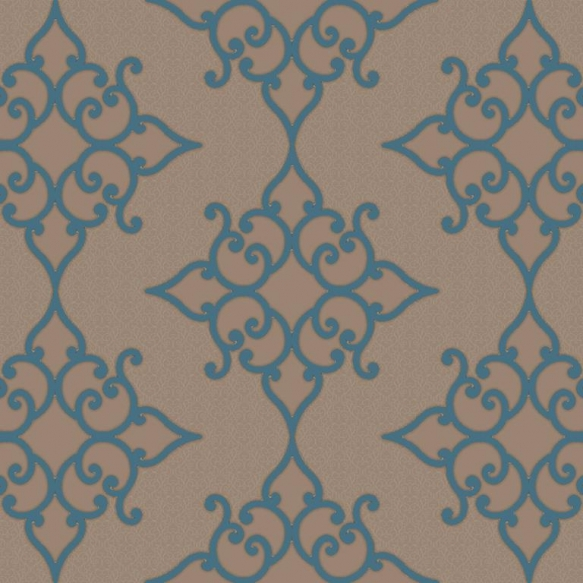 Decadence Crepe Moroccan Medallion Blue