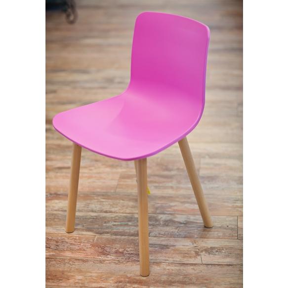 tool Heidy, roosa, puidust jalad