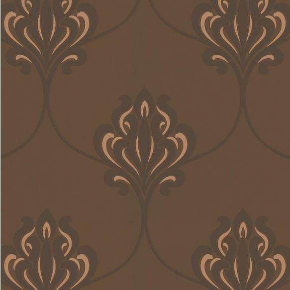 Decadence Nouveau Damask Bronze/Chocolate