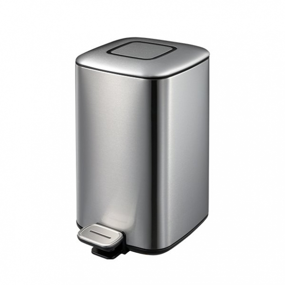 REGENT Trash bin 12l, Soft Close, brushed stainless steel