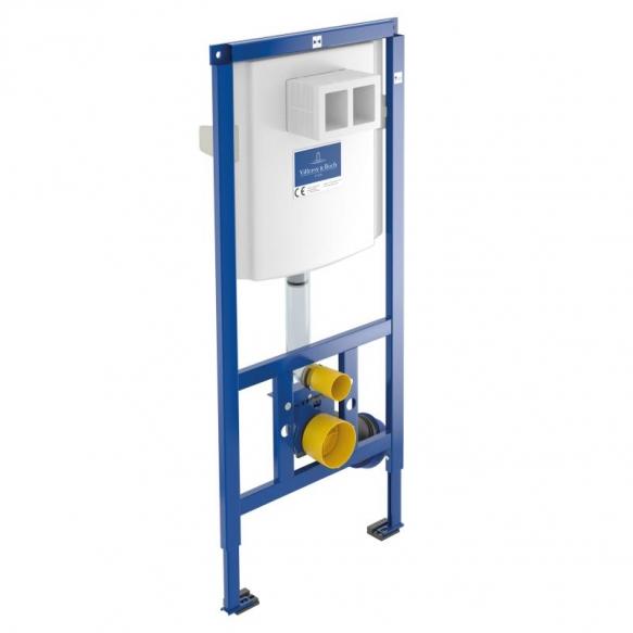 set:  wall hung wc Omnia Architectura 5684R, soft close seat 98M9C101, Villeroy&Boch wc frame 92246100, mat chrome flush plate 92249069