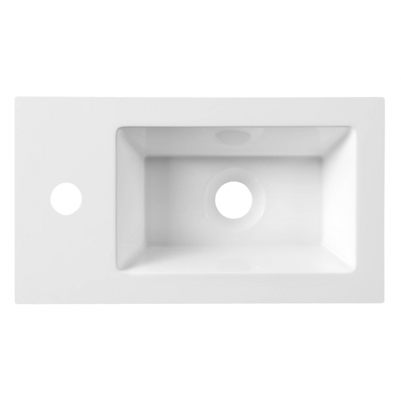 Cultured Marble Washbasin 40x22cm, white
