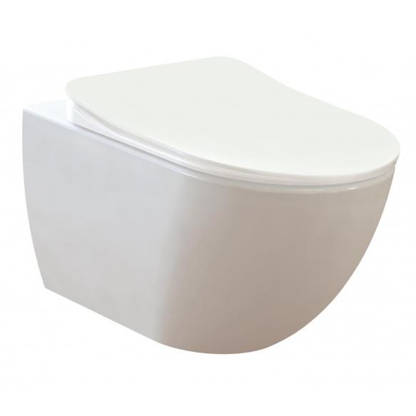 rimless seina wc Free, valge, ilma istmeta