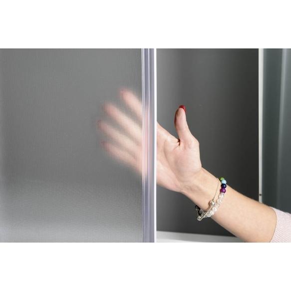ALAN Square Shower Enclosure, 800x800x1850 mm, glass BRICK