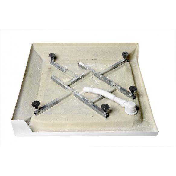 kandiline dušialus 90x90x15 cm, komplektis sifoon