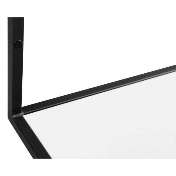 metallist valamukonstruktsioon Ska, 120 cm, matt must, valge MDF riiul