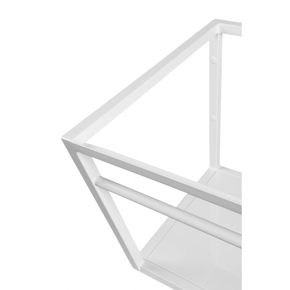 metallist valamukonstruktsioon Ska, 90 cm, matt valge, valge MDF riiul
