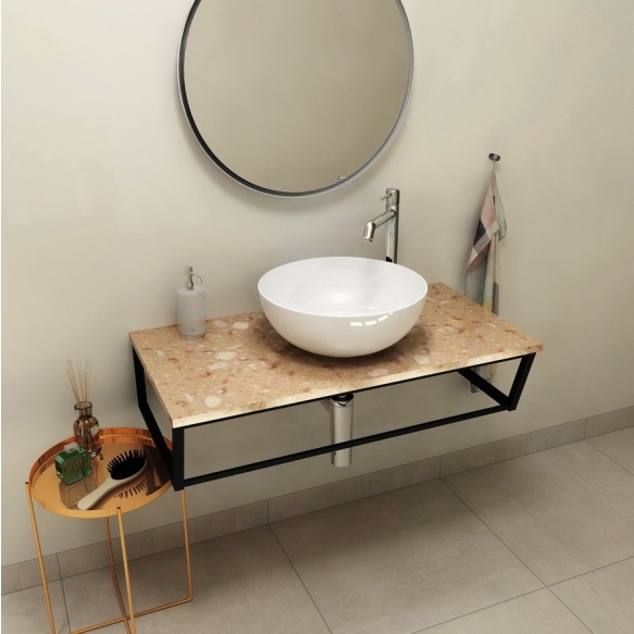 SKA Countertop 90x2x46 cm, technical marble, Rosa del Garda