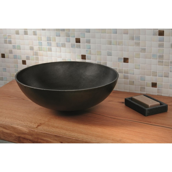 aluminium worktop basin Denia, rustic finish