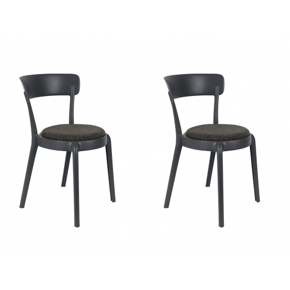 set of 2 chairs Hoppe Comfy Dark Grey