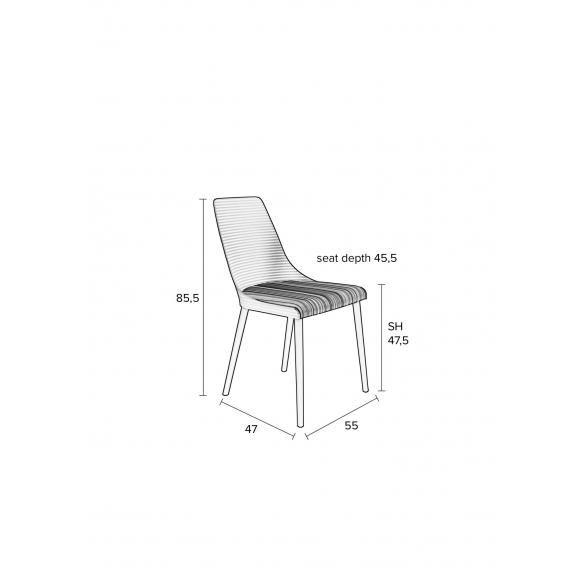 set of 2 chairs Olivia Dark Grey