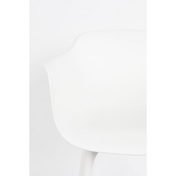komplekt: 2 käetugedega tooli Mae, valge
