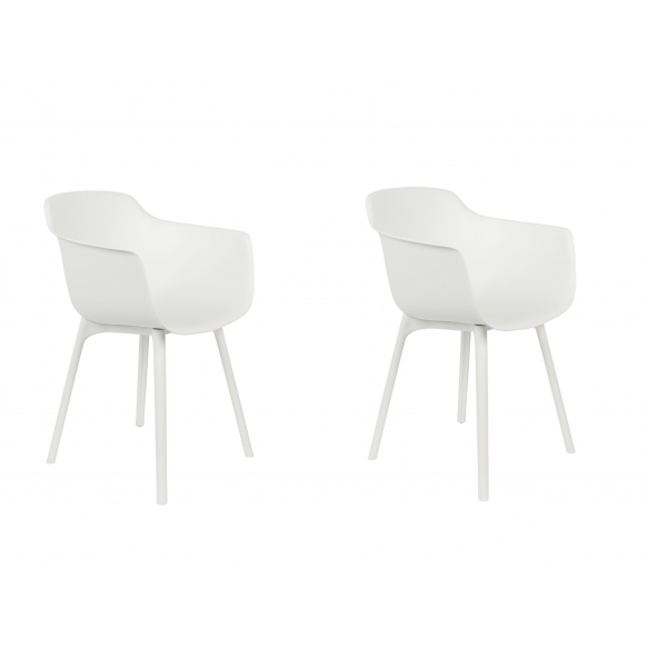 set of 2 armchairs Mae White