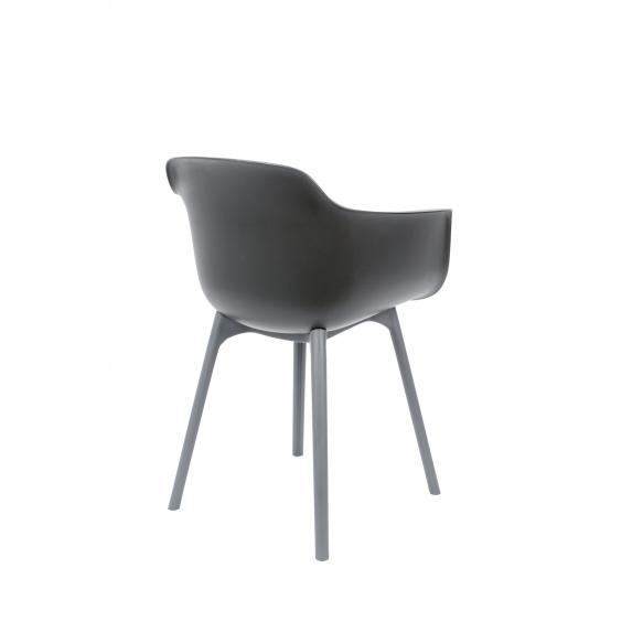 komplekt: 2 käetugedega tooli Mae, tumehall