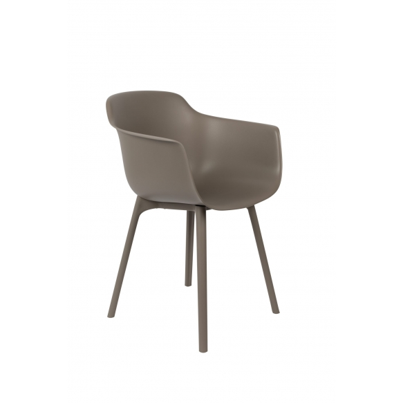 komplekt: 2 käetugedega tooli Mae, pruunikashall