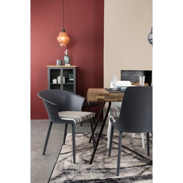 komplekt: 2 käetugedega tooli Olivia, tumehall