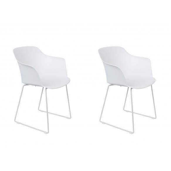 set of 2 armchairs Tango White