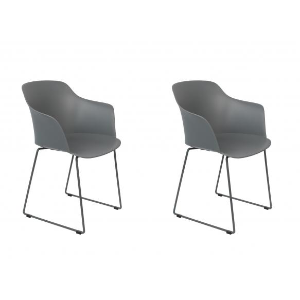 set of 2 armchairs Tango Grey