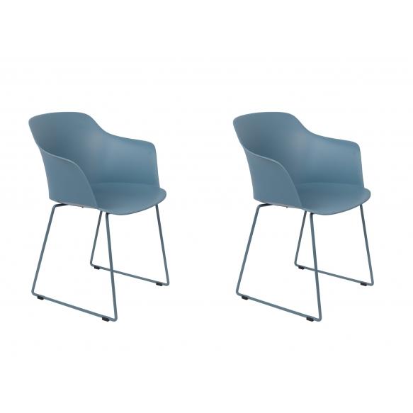 set of 2 armchairs Tango Blue