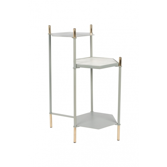 Side Table Honeycomb Grey