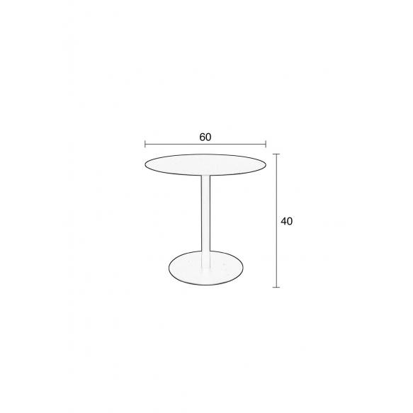 Side Table Snow Black Round M
