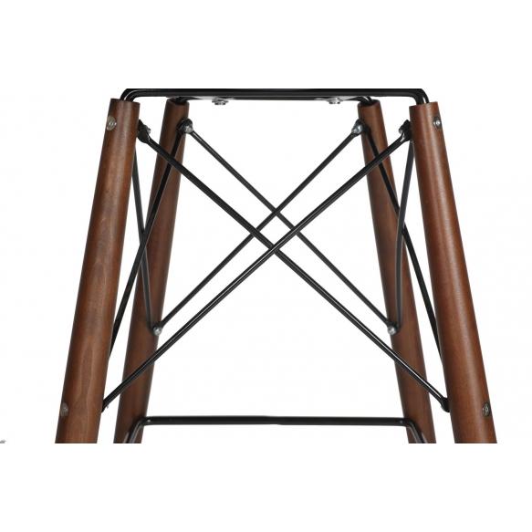 bar stool Beata, blue, dark brown feet