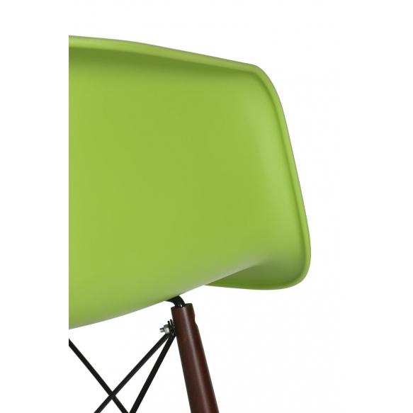bar stool Beata, green, dark brown feet