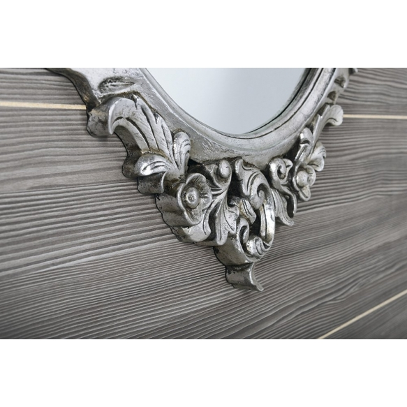 Desna mirror with frame,80x100 cm, Silver Antique