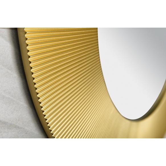 SUNBEAM mirror with frame, diameter 90cm, Gold